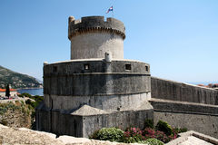 Dubrovnik. Croatia. Dubrovnik. The fortress and Mintchet tower, which are named after the aristocratic family of Dubrovnik Minchet, who sacrificed their land Stock Image