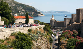 Dubrovnik. Croatia. Dubrovnik. The fortress and Mintchet tower, which are named after the aristocratic family of Dubrovnik Minchet, who sacrificed their land Stock Photos