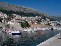 croatia dubrovnik gammal port Arkivfoto