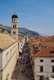 croatia dubrovnik gammal town Fotografering för Bildbyråer