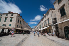 croatia dubrovnik gammal town Royaltyfria Bilder