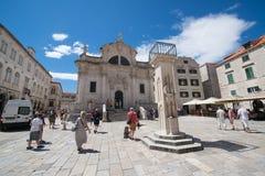 croatia dubrovnik gammal town Arkivfoto