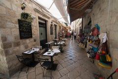 croatia dubrovnik gammal town Arkivfoton