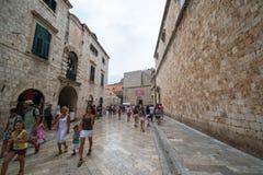 croatia dubrovnik gammal town Royaltyfria Foton