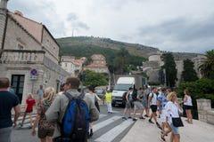 croatia dubrovnik gammal town Arkivbild