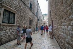 croatia dubrovnik gammal town Arkivbilder