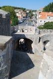 croatia dubrovnik gammal town Balkans Adriatiskt hav Arkivfoto