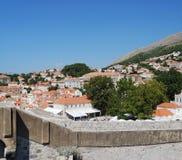 croatia dubrovnik gammal town Balkans Adriatiskt hav, Europa Royaltyfri Bild