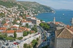 croatia dubrovnik hamn till sikten Royaltyfri Foto