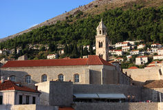 Croatia Dubrovnik historic city center and harbor Royalty Free Stock Images