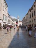 croatia dubrovnik huvudstradungata Arkivbild