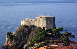 Croatia Dubrovnik Lovrijenac Fort Stock Photography