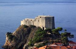 Croatia Dubrovnik Lovrijenac Fort Stock Photography