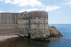 croatia dubrovnik medeltida väggar Royaltyfri Fotografi