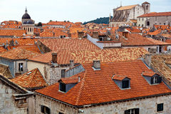 Croatia, dubrovnik, rooftops Royalty Free Stock Images