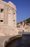 Croatia Dubrovnik Saint John Fortress and  Harbor Royalty Free Stock Images