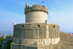 croatia dubrovnik väggar Royaltyfria Bilder