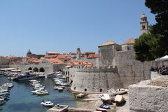 Croatia, Dubrovnik view of the fortress and harbor Royalty Free Stock Photo