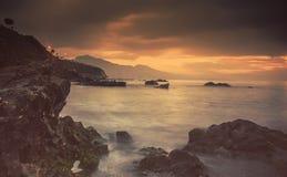 croatia Dubrovnik wysp lokaci śródziemnomorski pobliski zmierzch obrazy stock