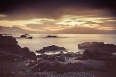 croatia Dubrovnik wysp lokaci śródziemnomorski pobliski zmierzch fotografia stock