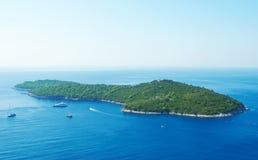 croatia Dubrovnik wyspy lokrum Zdjęcie Stock