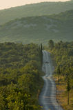 Croatia - estrada secundária foto de stock