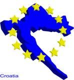 croatia eu Royaltyfri Illustrationer
