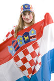 Croatia fan Royalty Free Stock Image