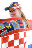 Croatia fan Royalty Free Stock Photography