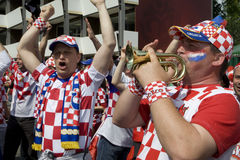 Croatia fans at the euro 2008 Stock Photo