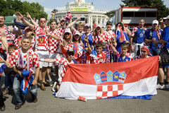 Croatia fans at the euro 2008 Royalty Free Stock Images