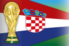 Croatia, finalist world champion, Russia 2018, semi finals. Flags of Croatia, final phase, Russia 2018 world cup football, vector illustration Royalty Free Stock Photography