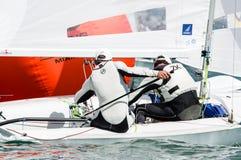 Croatia finishes 4th at the ISAF Sailing Wold Cup in Miami. Miami, USA, February 1, 2014 - Croatia finished 4th at the ISAF Sailing World Cup in Miami.  The Royalty Free Stock Image