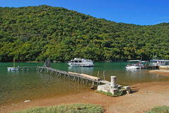 croatia fjordlim Arkivfoto