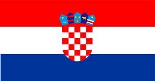 croatia flagę Żakiet ręki Chorwacja ilustracja wektor