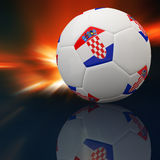 Croatia flag on 3d football Royalty Free Stock Images