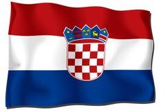 Croatia flag. Computer generated illustration of the flag of Croatia stock illustration