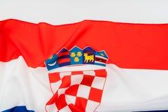 croatia flagę Zdjęcia Stock