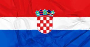 croatia flagę Zdjęcie Royalty Free