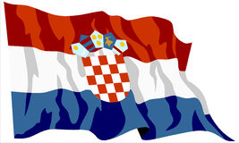 Croatia flag Royalty Free Stock Image