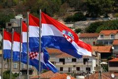 croatia flagę Obrazy Royalty Free