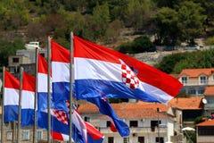 croatia flagę Obraz Royalty Free