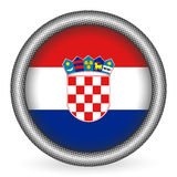 Croatia flag button Stock Images