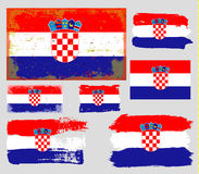 Croatia flag collection vector Stock Photography
