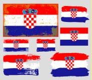 Croatia flag collection vector Stock Photography