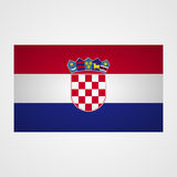 Croatia flag on a gray background. Vector illustration Stock Image