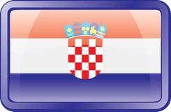 Croatia Flag Icon royalty free stock image