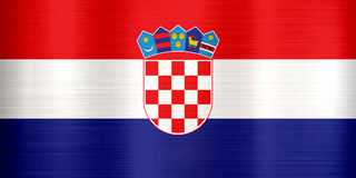Croatia Flag metallic texture Stock Image