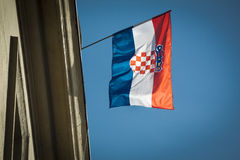 Croatia flag Royalty Free Stock Images