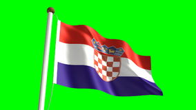 Croatia flag stock video